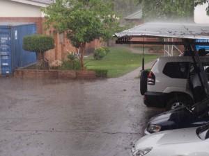 Det regnade idag!
