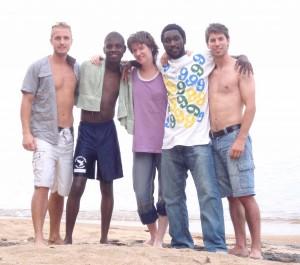 Emil, Ulemo, Antji, Dillon och Hannes