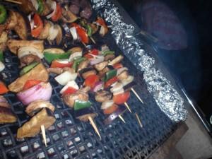 Vegetariska grillspett
