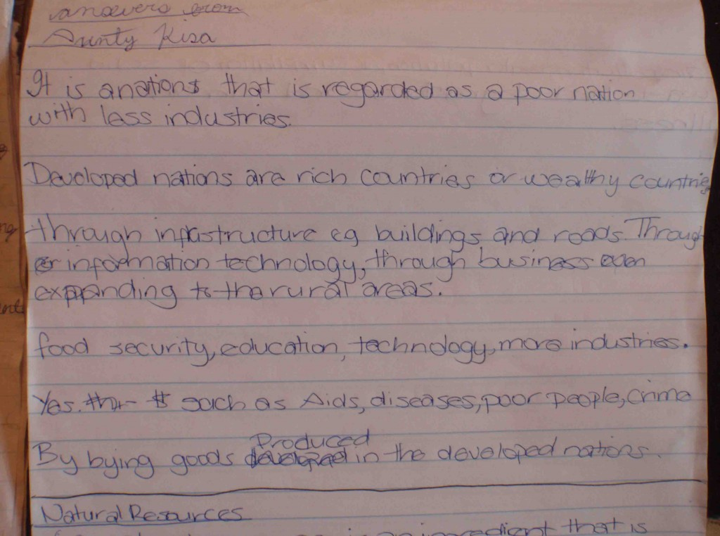 Malawi skolanteckningar svar