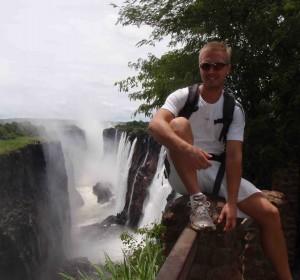 Hannes och Emil vid Victoriafallen