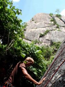 Juha climbing