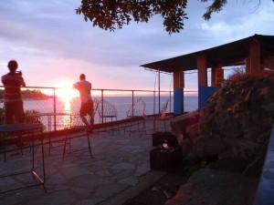 Lake Kariba vid soluppgång