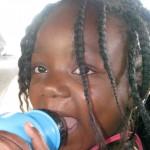 funny face little girl