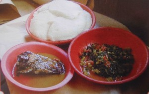 Nsima Fisk Mpirugrönsaker